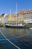 Nyhavn colorful buildings at Copenhagen — Stock Photo