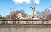 Fountain of Neptune in Madrid, Spain. — Stock Photo
