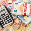 Calculator with Euro currency — Stock Photo #62082291
