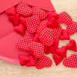 Envelope with red hearts — Stock Photo #65304505