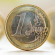 Close up view of one Euro coin — Stock Photo #65452571