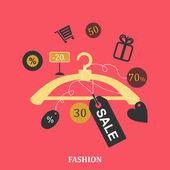 Hanger discount — Stock Vector