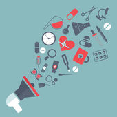 Medicine mouthpiece — Stock Vector