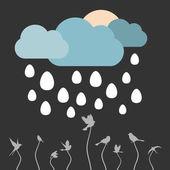 Pioggia da uova — Vettoriale Stock