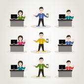 Characters office managers — Stock Vector