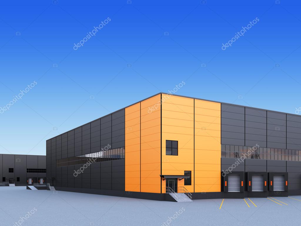 Exterior Of A Commercial Warehouse Stock Photo Plukhin 103932252