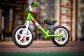 Green kids bike — Stock Photo