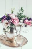 Zarif çiçek dekorasyonu — Stok fotoğraf