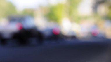 Car lights bokeh — Stock Video