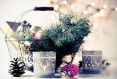 Vintage Christmas decor — Stock Photo