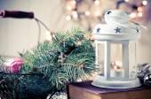 Vintage Christmas decor — Stock Photo