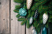 Branches with Christmas decorations  — Stock Photo