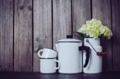 Enameled kitchenware — Stockfoto