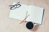Blank notebook — Stockfoto