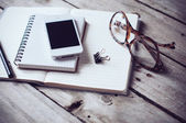 Hipster home office — Stock Photo