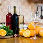 Three bottles of wine — Stock Photo #70725377