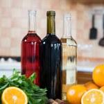 Three bottles of wine — Stock Photo #70725547