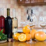Three bottles of wine — Stock Photo #70725945
