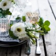 Summer wedding table decoration — Stock Photo #76047253