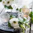 Summer wedding table decoration — Stock Photo #76048299