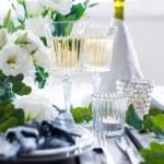 Summer wedding table decor — Stock Photo #76050749