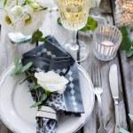 Summer wedding table decor — Stock Photo #76051623