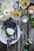 Summer wedding table decor — Stock Photo