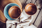 Rustic dishes — Stock Photo