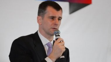 Multibillionaire Mikhail Prokhorov — Vídeo stock