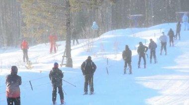 Skilift voor beginners — Stockvideo