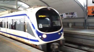 Sky line train departs — Wideo stockowe