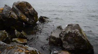 Autumn Baikal lake — Stock Video