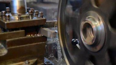 Virando a máquina durante o trabalho — Vídeo stock