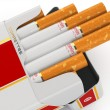 Generic cigarette pack on white background. — Stock Photo #51808499