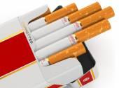 Generic cigarette pack on white background. — ストック写真