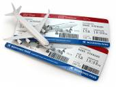 Boarding pass. Tickets and airplane. — Stock Photo