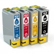 Cartridges for colour inkjet printer. CMYK. — Stock Photo #53712433