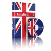 English book  in national flag cover and CD. — Stock Photo