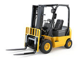 Forklift truck on white isolated background. — Stock Photo