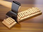 Changing of word impossible into possible on wooden plank with a — Stock Photo