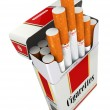 Cigarette pack on white isolated background. — Stock Photo #58139023