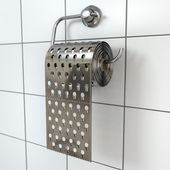 Hemorrhoids concept.Toilet paper  as grater. — Stock Photo