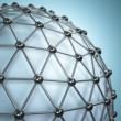 Lattice sphere. Concept of molecule. Abstract background. — Stock Photo #70648173