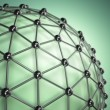 Lattice sphere. Concept of molecule. Abstract background. — Stock Photo #71255647