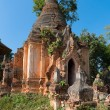 Ruins of ancient Burmese Buddhist pagodas — Stock Photo #53812001