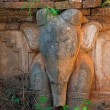 Elephant image in ancient Burmese Buddhist pagodas — Stock Photo #53812153