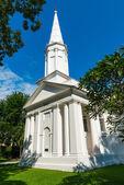 White hristian church — Stock Photo