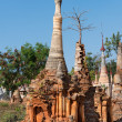 Ruins of ancient Burmese Buddhist pagodas — Stock Photo #60113143