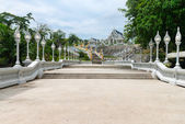 White buddhist temple in Thailand — Stock Photo