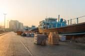 Cargo port in Dubai Creek, United Arab Emirates — Stock Photo